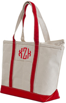 CB Station Red Large Monogram Boat Tote