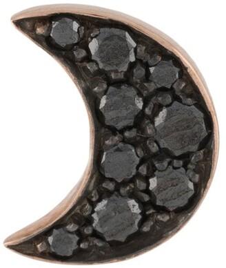 Dodo 9kt rose gold diamond Moon stud earring