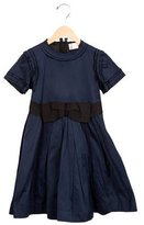 Lanvin Girls' Bow-Embellished Pleated Dress