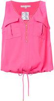 Trina Turk zip front blouse