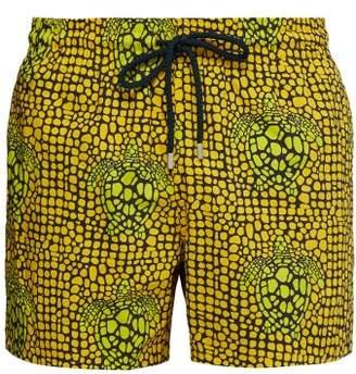 Vilebrequin Moorise Turtle Print Swim Shorts - Mens - Yellow