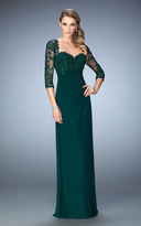 La Femme 21750 Sequined Sweetheart Column Dress