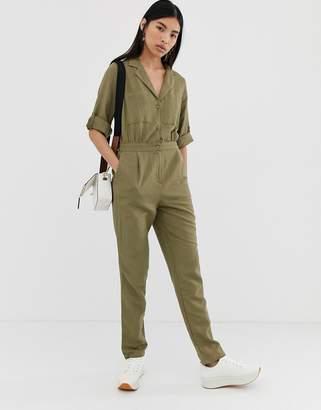 Pieces utility jumpsuit-Green