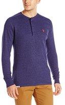 U.S. Polo Assn. Men's Long Sleeve Thermal Henley Pullover