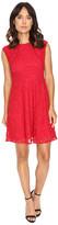 London Times Swirl Lace Cap Sleeve Full Skirt