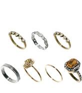 Asos Skull & Jewel Ring Pack