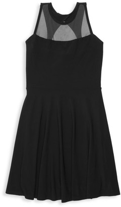 Un Deux Trois Girl's Illusion Dress