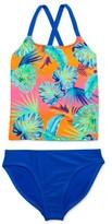 Wonder Nation Girls 4-18 & Plus Cross-Back Printed Tankini Swimsuit with UPF 50+