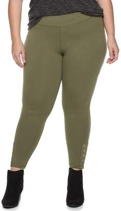 Plus Size French Laundry Grommet Detail Leggings