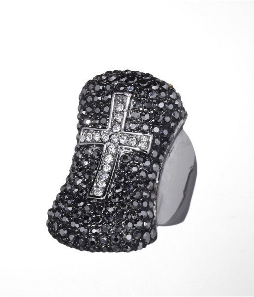 Express Pave Cross Ring