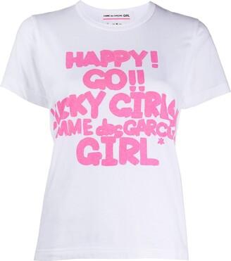 COMME DES GARÇONS GIRL graphic-print cotton T-shirt