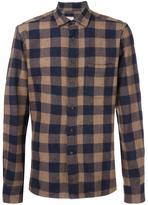 Xacus checked shirt - men - Cotton/Wool/Cashmere - 39