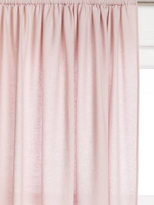 John Lewis & Partners Washed Linen Slot Top Voile Panel