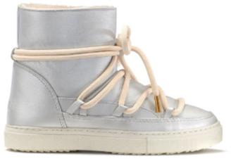 INUIKII Full Leather Sneaker Silver