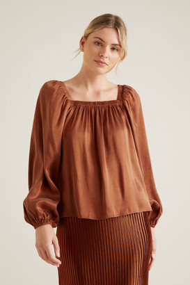 Seed Heritage Floaty Blouson Top