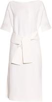 Osman Hemera tie-waist crepe dress