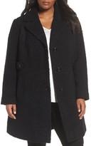 Gallery Plus Size Women's Boucle Coat