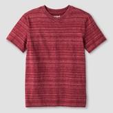Cat & Jack Boys' Stripe V-Neck T-Shirt Cat & Jack - Red XL