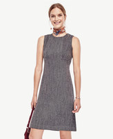 Ann Taylor Tweed Seamed Shift Dress