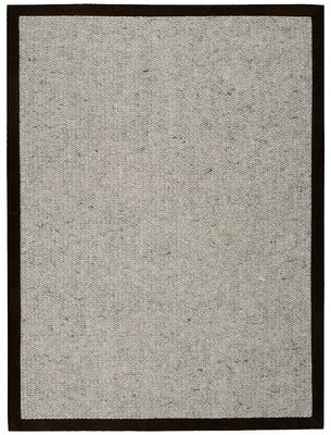 """Calvin Klein Lucia Hand-Knotted Wool Ashen Area Rug Rug Size: Rectangle 5'6"""" x 7'5"""""""