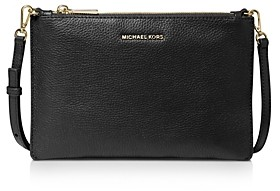 MICHAEL Michael Kors Large Double Pouch Leather Crossbody