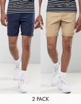 Jack & Jones Intelligence Chino Shorts In Regular Fit Multipack Save