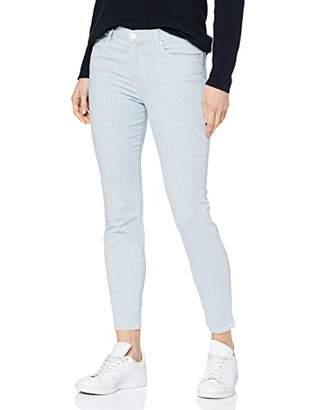Brax Women's Shakira S Small Summer Stripe Five Pocket Streifen Verkürzt Skinny Jeans, (Clean Beige 59), (Size: 40)