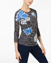 INC International Concepts I.N.C. Burnout Top, Created for Macy's