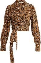 Diane von Furstenberg Whitman leopard-print silk blouse