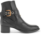Chloé Buckled Leather Ankle Boots - Black