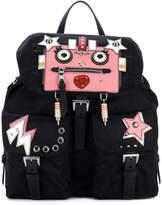 Prada robot embellished backpack