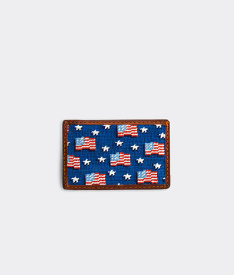 Vineyard Vines x Smathers & Branson American Flag Card Case