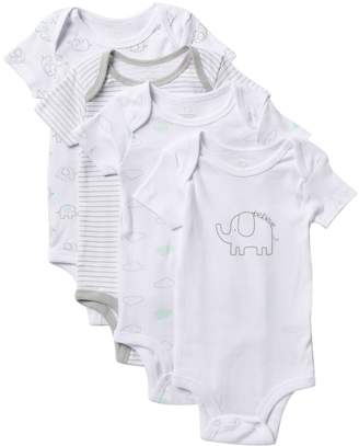 Koala Baby Assorted Short Sleeve Bodysuits - Pack of 4 (Baby Boys 0-9M)