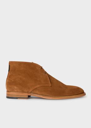 Paul Smith Men's Tan Suede 'Arni' Chukka Boots