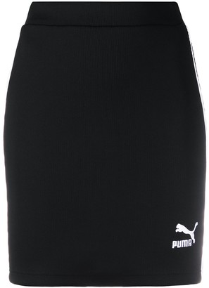 Puma Ribbed Contrast Side Panel Skirt
