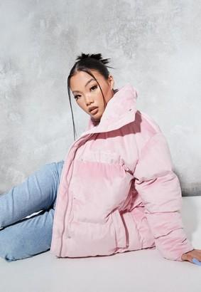Missguided Sean John X Pink Premium Velour Oversized Puff-A Coat