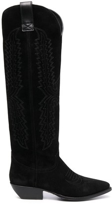 Paul Warmer Western-style suede boots