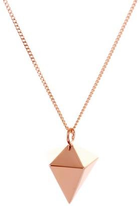 Origami Jewellery Mini Decagem Necklace Rose Gold