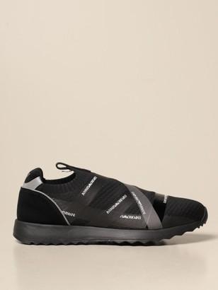 Emporio Armani Sneakers In Technical Fabric