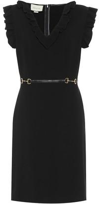 Gucci Horsebit crepe dress
