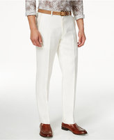 Men Slim-fit White Linen Pants - ShopStyle