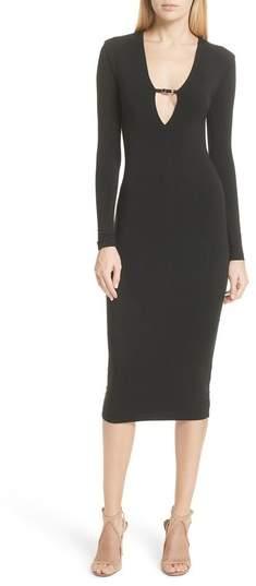 Alexander Wang Keyhole Neck Body-Con Dress