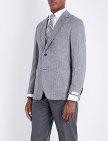 Richard James Herringbone-weave wool and cashmere-blend jacket