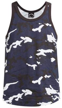 The Upside Marine Camouflage-print Cotton Tank Top - Womens - Blue Print