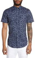 Slate & Stone Men's Slim Fit Print Sport Shirt
