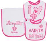 Gerber Baby New Orleans Saints 3-Piece Bib & Burpcloth Set
