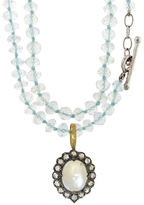Cathy Waterman Moonstone Lace Edged Charm