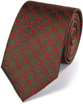 Olive Silk Circle Link Classic Tie Size Osfa By Charles Tyrwhitt