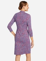 J.Mclaughlin Ivana Dress in Splatter Grid