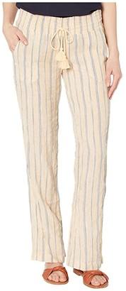 Roxy Oceanside Pants Yarn-Dye (Sahara Sun Playa Stripe) Women's Casual Pants
